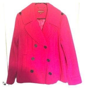 Beautiful Pink XL Merona Wool Pea Coat
